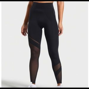 Gymshark Mesh Layer Leggings (Black)